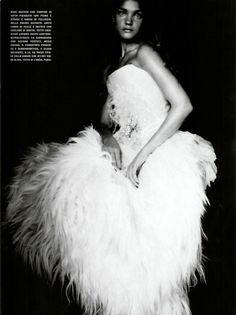 Vogue Italia (September 2004) as A Girl of Singular Beauty | Natalia Vodianova by Paolo Roversi
