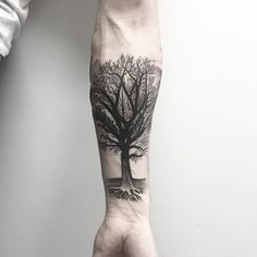Tree. #btattooing #blacktattooart #onlyblackart #blxckink #blckinkuk #blacktattoomag #treetattoo