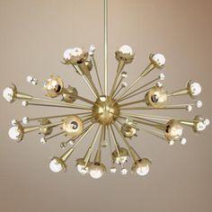 Jonathan Adler Sputnik 24-Light Antique Brass Chandelier