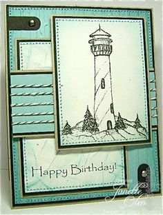 I love the layout of this card and the colours used. It's a wonderful masculine card, but this could be adapted for so many other cards too.