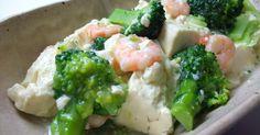 2013.2.27話題入り・レシピ本掲載!! えび・ブロッコリー・豆腐を、あっさりとろ~りうま塩味で仕上げた一品です。
