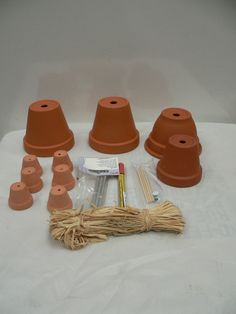 Flower Pot Man Women Figure & Wind Chime New Kit Make Your Own