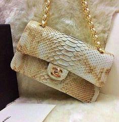 Chanel snake skin flap Bag #chanel #designer #bags