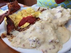 Biscuits and Gravy country breakfast from ODs in Gilroy, CA - so good!