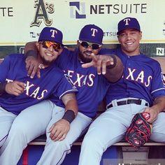 Odor, Fielder, and Kela. I'M SO READY FOR BASEBALL SEASON!  Go Rangers!!! ⚾️❤️⚾️