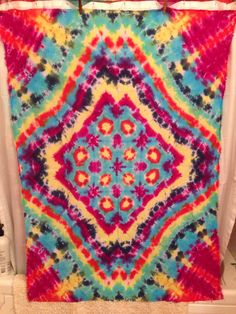 A personal favorite from my Etsy shop https://www.etsy.com/listing/228189668/tie-dye-tapestry