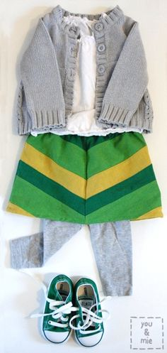 Lucky Chevron Skirt how to | You & Mie