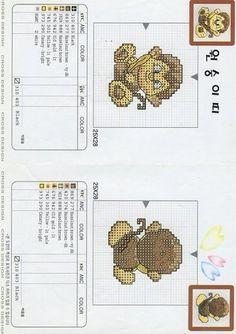 Monkey...Solo Patrones Punto Cruz | Aprender manualidades es facilisimo.com