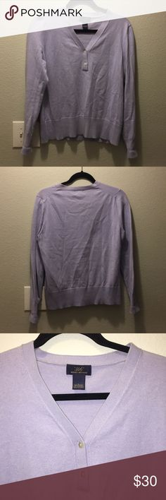 Brooks Brothers Cashmere Blend Pullover Sweater EUC Brooks Brothers two-button pullover sweater in lavender. A great spring transition piece!  70% Cotton 18% nylon 12% cashmere Brooks Brothers Sweaters V-Necks