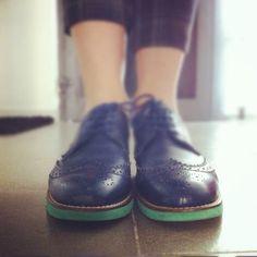 my blue shoes