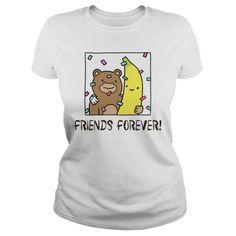BFF Monkey Banana Best Friends Forever T-Shirt - Strive to have friends, for life without friends is like life on a desert island Bff Sweatshirts, Bff Shirts, Friends Are Like, Real Friends, Tee Bag, Best Friend T Shirts, Monkey And Banana, Birthday Gifts For Best Friend, Best Friends Forever