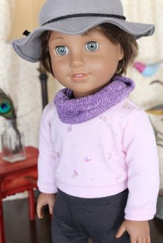 Wool Felt Floppy Brimmed Hat for American Girl by ClarissesCloset, $24.00