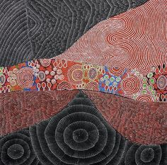 """<b>LILY KELLY, TOPSY PETERSON NAPANGARDI, CHRISTINE PETERSON NUNGALA DOLSI KELLY, NORMA KELLY & GEORGINA KELLY</b> <br  /> """"Our Country"""" <br  /> Acrylic on canvas. <br  /> Comes with Certificate of Authenticity. <br  /> Painted in 2014. <br  /> Artwork is stretched and ready to hang.  <br  /> 198cm x 200cm"""
