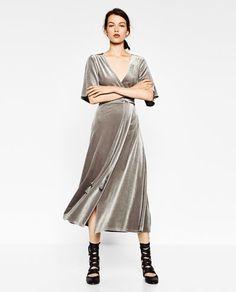 CROSSOVER VELVET DRESS-VELVET-WOMAN   ZARA United States