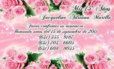 Tarjeta de confirmación de invitados para fiesta de 15 años #sweet15 #quinceanera #rsvp