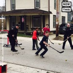 These cops were called to end a rowdy street hockey game  they joined the fun instead #news #alternativenews