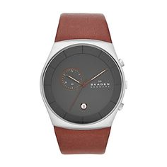 Skagen Men's SKW6085 Havene Saddle Leather Watch Skagen