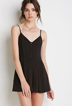 Buttoned-Front Romper | Forever 21