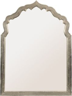 Astor Ornate Arched Silver Mirror