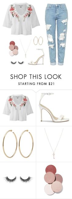 """""""Untitled #1475"""" by mkk-18 ❤ liked on Polyvore featuring Sans Souci, Tiffany & Co. and LunatiCK Cosmetic Labs"""