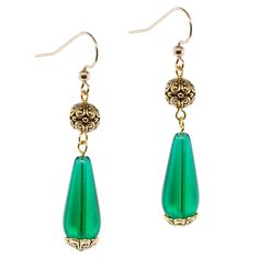Emerald Dreams Earrings | Fusion Beads Inspiration Gallery