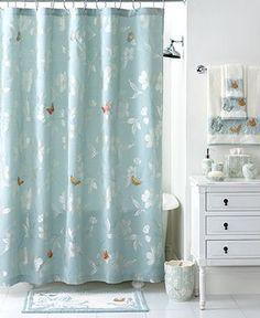 Martha Stewart Collection Bath Accessories, Mariposa Shower Curtain - Shower Curtains & Accessories - Bed & Bath - Macy's