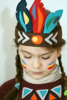 Photo - My Hobbies Thanksgiving Hat, Thanksgiving Preschool, Sewing Projects For Kids, Sewing For Kids, Sewing Crafts, Indian Costumes, Diy Costumes, Indian Birthday Parties, Carnival Crafts