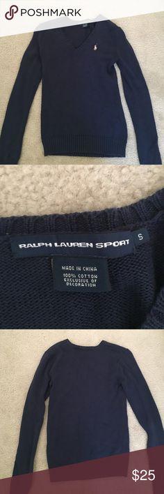 Ralph lauren v sweater Navy blue ralph lauren size small v neck sweater new condition only worn about 3 times Ralph Lauren Sweaters V-Necks