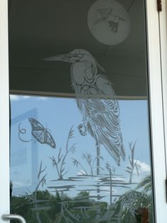 FLOYDS ON THE WATER  ETCHED GLASS BY JOE DERITA