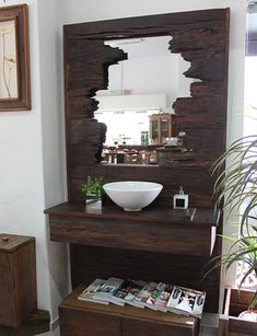 Bathroom Decor ideas Home Design Ideas: Home Decorating Ideas Bathroom Home Decorating Ideas Bathroom Shoe cabinets - Hallway furniture - Recycling - Mirrors - Antechamber - A designer st . Hall Furniture, Furniture Plans, Bathroom Furniture, Bathroom Interior, Shower Remodel, Recycled Furniture, Unique Wood Furniture, Home Design, Design Ideas
