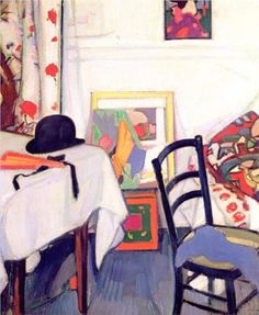 Interior with Japanese Print - Peploe Samuel