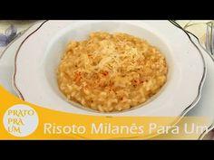 Prato Pra Um - Risoto Milanês Para Uma Pessoa