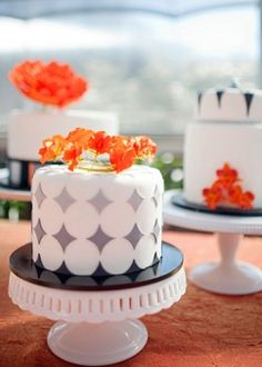 Orange and Gray Wedding Theme Favors and Decoration Ideas