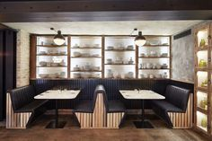 New French restaurant with interior design by Laura Gonzalez - Perspective Shabby Chic Restaurant, Restaurant Booth, Cafe Interior, Best Interior Design, Restaurant Design Moderne, Upholstered Swivel Chairs, Booth Seating, Private Dining Room, Accent Chairs For Living Room
