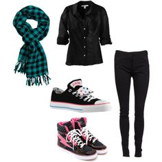Emo Polyvore Outfits for Girls | You can get a haircut/Hairstyle like this if your parents will look :)