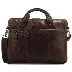"Handmade Antique Leather Briefcase / Messenger / 11"" MacBook Air 12"" Laptop Bag"