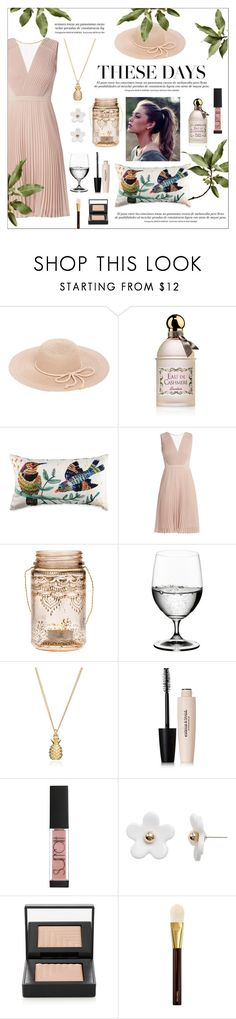 """""""Summer look"""" by linmari ❤ liked on Polyvore featuring Guerlain, Cultural Intrigue, Riedel, Estelle & Thild, Surratt, Poporcelain, NARS Cosmetics and Tom Ford"""
