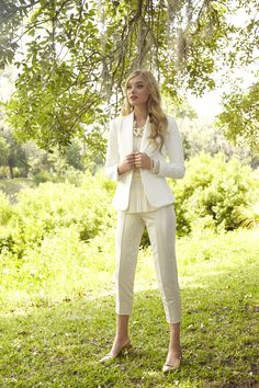 Colors, style. My cream lace top, need pants, jacket.  Lilly Pulitzer Fall '13- Leighton Blazer, Conley Top & Stella Pant
