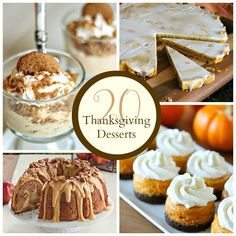 Thanksgiving Desserts - The Crafted Sparrow