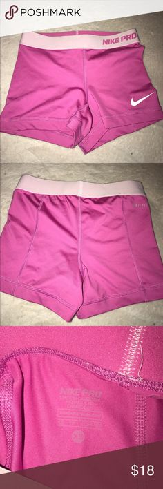 NIKE PROS COMPRESSION XS Nike pros!!! Hot pink color. Worn twice! Nike Shorts