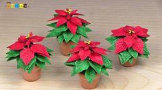 Miniature Paper Flower - Poinsettia Z