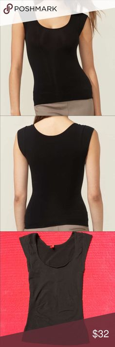 4e4fa6ecfc227 SPANX On Top In Control Cap Sleeve Scoop Neck S 🔥