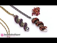 How to Do Cellini Spiral Stitch Using Two Hole Beads - YouTube