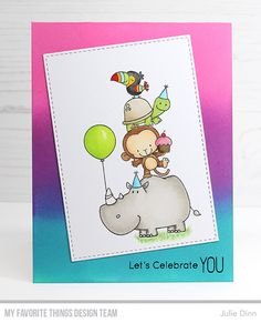 Kreative Jewels: Let's Celebrate You 3d Birthday Card, Creative Birthday Cards, Scrapbooking, Scrapbook Cards, Cute Doodle Art, Hand Drawn Cards, Art Lessons For Kids, Happy Birth, Christmas Drawing