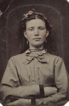 I like her resolve...crossed arms....Portrait of a young woman, ca. 1856-1900