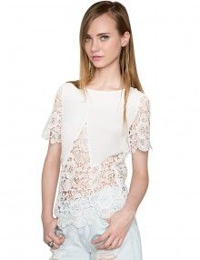 white lace tops - womens tops - $62