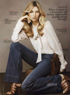 Jessica Hart for Vogue Australia Editorial Pick 'N' Mix, December 2010. Credit: MyFDB