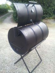 How to Make an Oil Drum BBQ Smoker: 13 Steps (with Pictures) Barrel Smoker, Barrel Grill, Drum Smoker, Oil Barrel, Homemade Drum, Homemade Smoker, Oil Drum Bbq, Diy Drums, Gardens