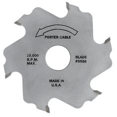 PORTER-CABLE 5558 6 Tooth Plate Joiner Blade, 4-Inch