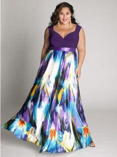 Maxi vestido roxo